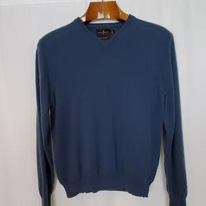Black Brown 1826 Blue V-Neck Cashmere Sweater
